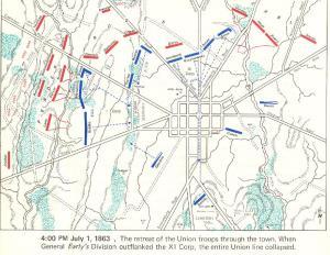 Gettysburg1863July1st4pmMap