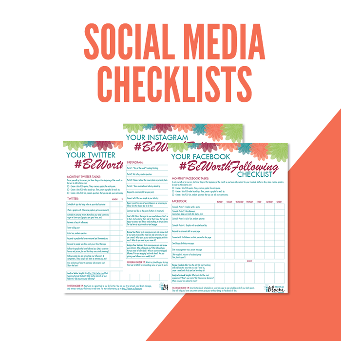 Social Media Checklists