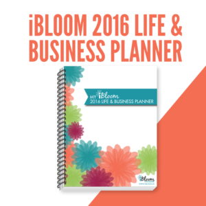 This is what my iBloom Life and Business Planner Looks like.